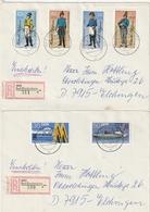DDR / 1986 / 2 Reco-Briefe Ex Bad Blankenburg (BF79) - Cartas