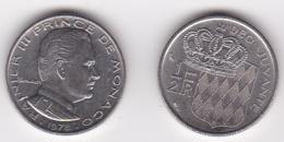 MONACO. 1/2 FRANC 1978 RAINIER III - 1960-2001 Nouveaux Francs