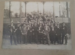 Photographie Ancienne MONT-DE-MARSAN (Landes) Des Années 1920-kiosque à Musique -RARISSIME - Anonieme Personen