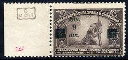 YUGOSLAVIA (SHS) 1922 Surcharge On War Charity Error 9 Din On 15 Pa. MNH / **.  Michel 166F - Ungebraucht