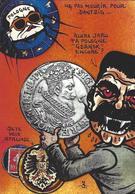 CPM Timbre Monnaie Pologne Tirage Limité Numéroté Signé En 30 Exemplaires Dantzig Danzig Gdansk Staline Russie - Polonia