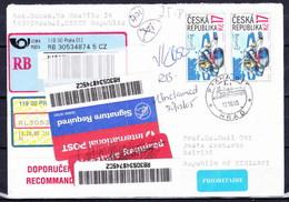 Tchéque République, Lettre Récommandé Pour Kiribati - Lettres & Documents