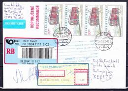 Tchéque République, Lettre Récommandé Pour Belize, Pd - Lettres & Documents