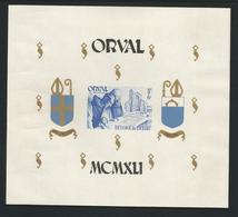 Belgium 1941 Orval Imperf. S/S OCB BF 12 ** - Blokken 1924-1960