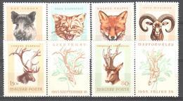 Hungary - Animals - Sus Scrofa - Felis Silvestris - Vulpes Vulpes - Ovis Musemon - Cervus Elaphus - Capreolus Capreolus - Timbres