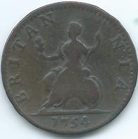 United Kingdom / Great Britain - 1754 - Farthing - George II - KM581 - 1662-1816: Ende 17. Jh. - Anfang 19. Jh.