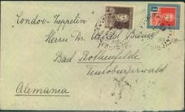 1932, Bedarfsbrief Südamerikafahrt Rückfahrt Ab BUENOS AIRES; Ankunft Friedrichshafen - Zeppelines