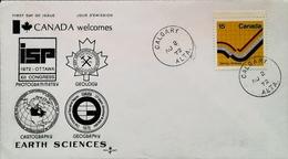 CANADA - FDC - 1972  (Oblitération Calgary) - Earth Sciences Geology Géologie - Enveloppe Premier Jour - Géologie