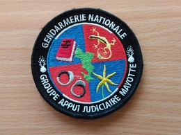Ecusson Gendarmerie  Groupe Appui Judiciaire Mayotte - Police & Gendarmerie