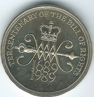 United Kingdom / Great Britain - 1989 - 2 Pounds - Elizabeth II - KM960 - Tercentenary Of The Bill Of Rights - 1971-… : Monete Decimali