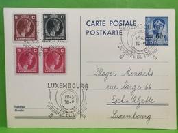 Carte Postale, 1945 Oblitéré 60c Cachet Journée Du Timbre - Stamped Stationery