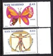 San Marino Saint-Marin 2054/55 Europa, Leonard De Vinci, Papillon - Europa-CEPT