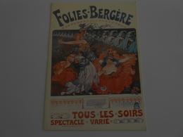 Lelée     Affiche Folies Bergère - 1896 - Illustrateurs & Photographes