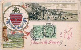 Cpa EASTBOURNE - Parade Beach And Pier Looking Esat, Embossed Card, Raphael Tuck Heraldic Postcard 1003 - Eastbourne