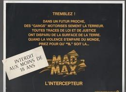 (cinéma) Affichette MAD MAX (CAT1787) - Posters