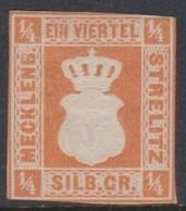 German States - Mecklenburg-Strelitz Scott 1 1864 Half Schilling Orange,Mint - Mecklenburg-Strelitz