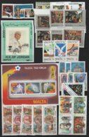 Mondiali 2500 Francobolli Differenti , Sciolti E Blocchi . Gomma Integra **/MNH VF/F - Lots & Kiloware (min. 1000 Stück)