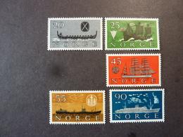 NORVEGE, Année 1960, YT N° 402 à 406 Neufs MH*, Série Complète (cote 15 EUR) - Ongebruikt