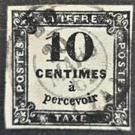 FRANCE 1861 - Canceled - YT 2 - Chiffre Taxe 10c - Taxes