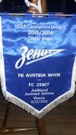 Bid Flag,fanion Football,UEFA ,FC Austria Wien Vs FC Zenit Saint Petersburg,Russia - Size35cm/42cm. - Kleding, Souvenirs & Andere