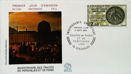 FRANCE - FDC - (Oblitération Traité De Versailles Et De Paris ) - Independance Américaine - Enveloppe Premier Jour - Unabhängigkeit USA