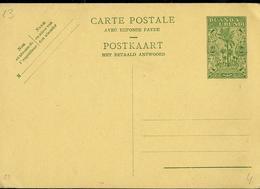 Carte Neuve N° 23  (60 C Vert Sur Crème) - Entiers Postaux