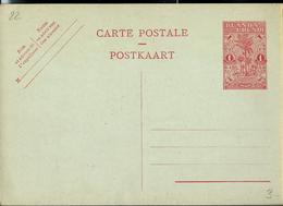 Carte Neuve N° 22 ( 1 Fr Rouge Sur Bleu) - Entiers Postaux