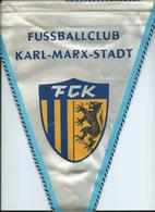 Big Flag,fanion Football,FC FCK Karl-Marx-Stadt,DDR,Germany - Size:24cm/35cm. - Kleding, Souvenirs & Andere