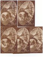 Militaire Lot 5 Cartes Postales Cpa Série Mome De Gosse Couple Amour Soldat Fiancé Fiancée Carte Ecrite En 1919 - Patriotic