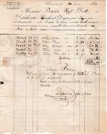 1834 BEAUVAIS - Draperie-Toilerie - Maison DELAHERCHE Pour M. BRETON, Négociant à ROUEN - Documents Historiques