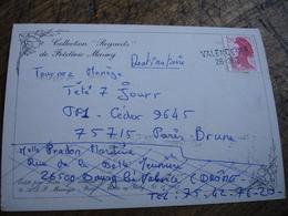 Valence R P 26.362 Griife Marque Lineaire Obliteration De Fortune Sur Lettre - 1961-....