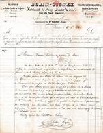 1848 BEAUVAIS - Fabricant De Drap & Feutre Tissé Maison BUDIN-SEGNEZ Pour M. DOUMERC Directeur Des Papeteries - Documents Historiques