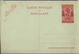 Carte Neuve N° 28  (2 Frs Sur 1 Frs) - Entiers Postaux