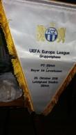 Big Flag,fanion Football,UEFA,FC Zurich,Switzerland Vs Bayer 04 Leverkusen,Germany - Size:33cm/40cm. - Kleding, Souvenirs & Andere
