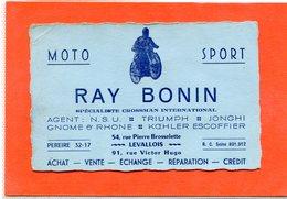 "92  . LEVALLOIS - PERRET  ,  Moto - Sport  ""  RAY    BONIN  "" - Autres"