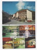 2 CPM - SAINT-LARY - VALLEE D'AURE (65) LE SPORTING Le C.C.A.S. Hall - Cinéma - Bar - Restaurant - Salon - Other Municipalities