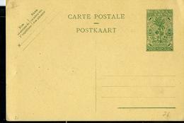 Carte Neuve N° 21  ( 60 C Vert Sur Chamois) - Entiers Postaux