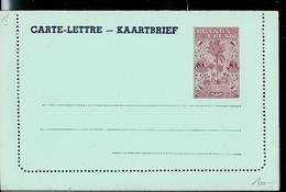 Carte-lettre Neuve N° 1  (3 Fr Brique Sur Bleu) - Entiers Postaux