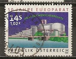 Autriche Austria 1999 Council Of Europe Obl - 1991-00 Oblitérés