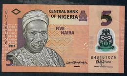 NIGERIA P38f 5 NAIRA 2014 Prefix BH   VF No P.h. ! - Nigeria