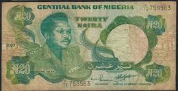 NIGERIA P26i 20 NAIRA 2003  #R/78 Signature 14    F-VF No P.h. ! - Nigeria