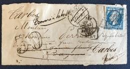 Timbre De France Classique Devant De Lettre N°14 Obl Plume Taxe 30 - 1853-1860 Napoléon III