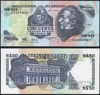 Uruguay P 61A - 50 Nuevos Pesos 1988 1989 - UNC - Uruguay
