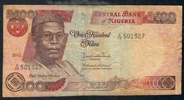NIGERIA P28p 100 NAIRA 2012  #V/36  Signature 20    F-VF No P.h. ! - Nigeria