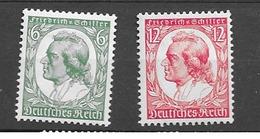 1934 MH German Empire Michel 554-5 - Allemagne