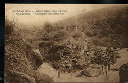 Carte Illustrée Neuve N° 19.  Vue 36.: Mines D'or - Construction D'un Barrage - Entiers Postaux