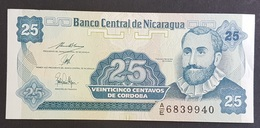 RS - Nicaragua 25 Centavos Banknote 1997 #AX 3123192 UNC - Nicaragua