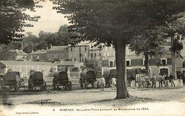 RIBERAC NOUVELLE PLACE PENDANT LES MANOEUVRES DE 1904 - Riberac