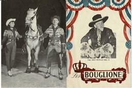 Les BOUGLIONE Western 16 Pages. Format 20/27cm. Autographes Diverses D'artistes. BE - Programmes