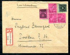 F0240 - SBZ - R-Brief Von Lietzow / Rügen Nach Dresden - Sovjetzone